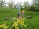 Die Indianer beim Grillen