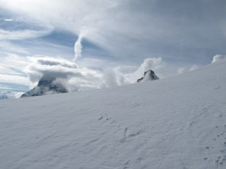 Matterhorn and Dent d'Herens