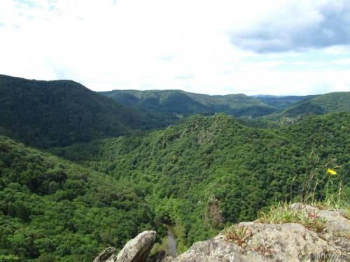 Blick von der Teufelsley (495 m ü NN)
